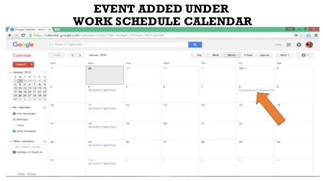 calendar work schedule - Selol-ink