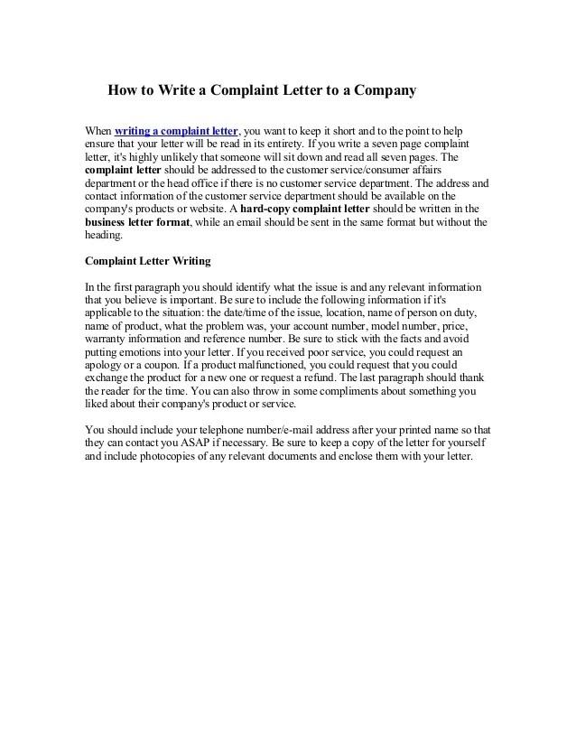 Ielts Complaint Letter Model Complaint Letter Writing Tips