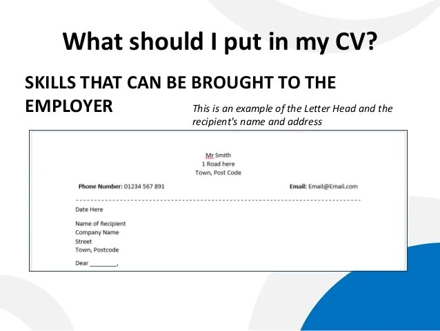 what to include for cover letter