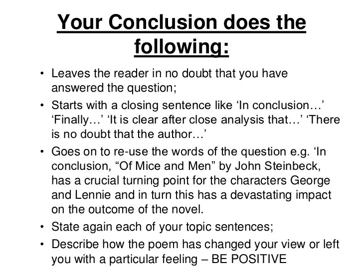 how - Conclusion Of Essay Example