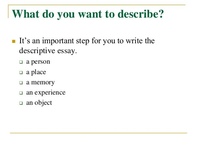 describe essay example co describe essay example