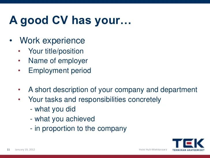 Examples Of Good And Bad Cvs University Of Kent How To Write A Good Cv And Cover Letter