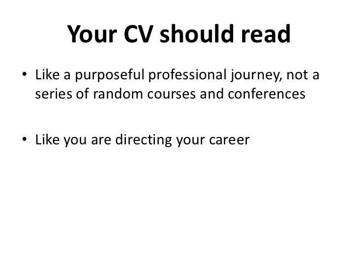 How To Write A Successful Cv University Of Kent How To Write A Good Cv