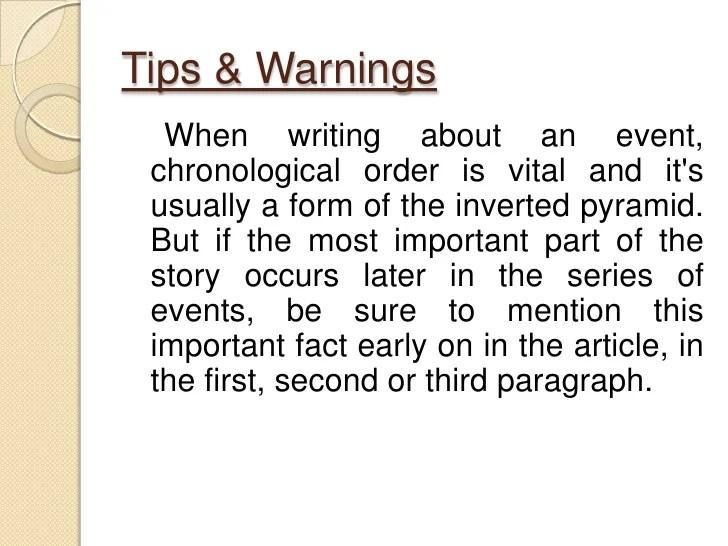 chronological order words