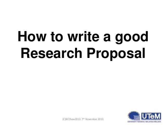 How to write a research