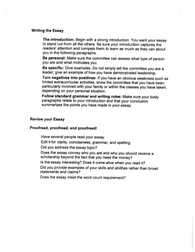 personal scholarship essay examples