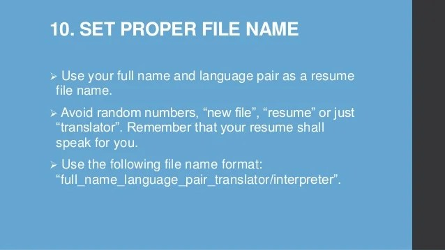 what to name resume file - Leonescapers