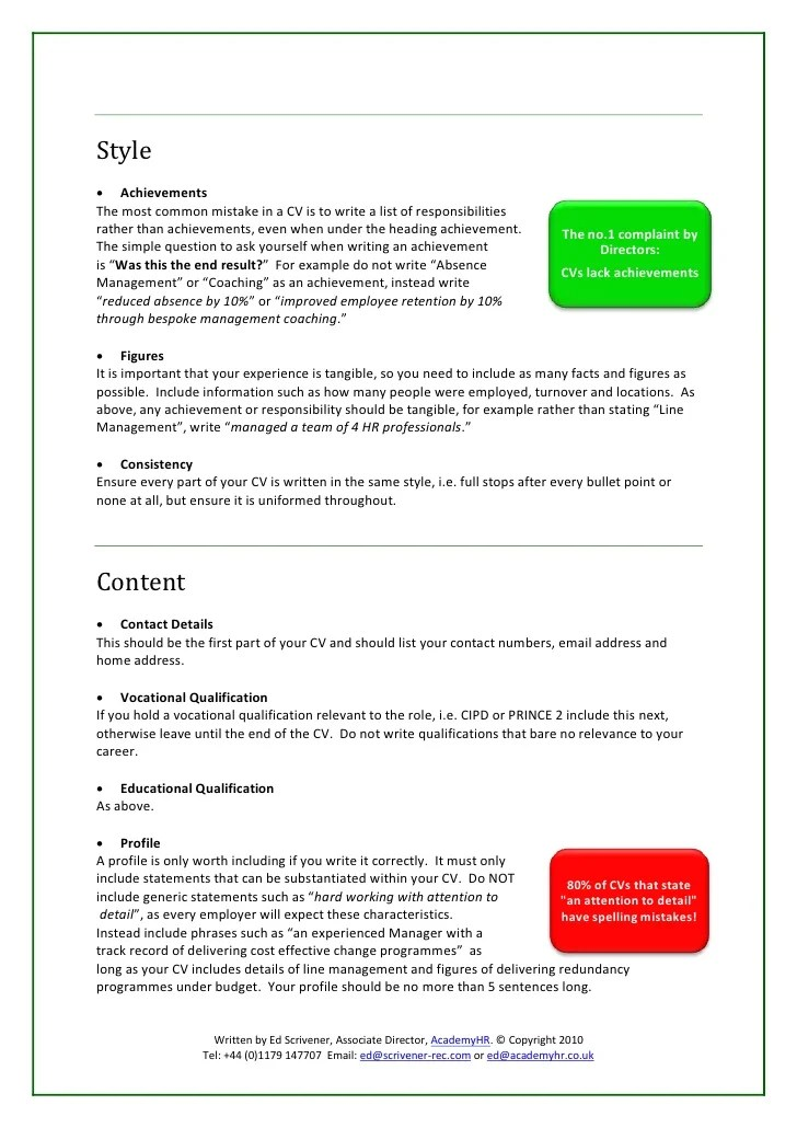 Management Resume Achievements Management Resume Tips To Manage Your Career How To Write An Effective Cv
