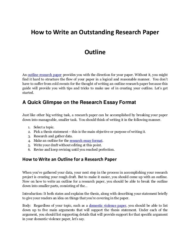 research paper outline template word - Delliberiberi - research paper outline template