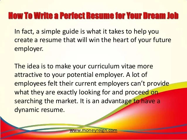 making a perfect resume - Minimfagency - How To Make A Perfect Resume