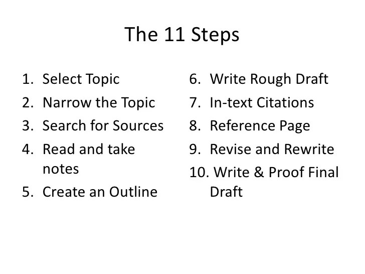 Scientific Style And Format Online Citation Quick Guide 10 Steps To Writing A Research Paper