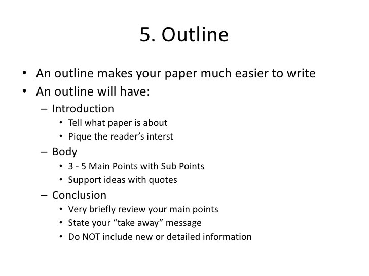 10 page research paper outline template - Romeolandinez