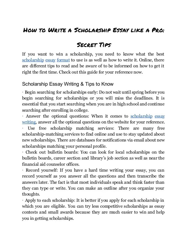 Scholarship Essay  Gracecollegeus Scholarship Essay Format Heading  Zaxa Examples Of An Essay Paper also Can Someone Write My Assignment For Me  Essay On Newspaper In Hindi