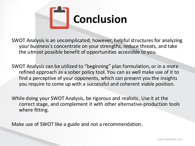 swat analysis sample - Alannoscrapleftbehind
