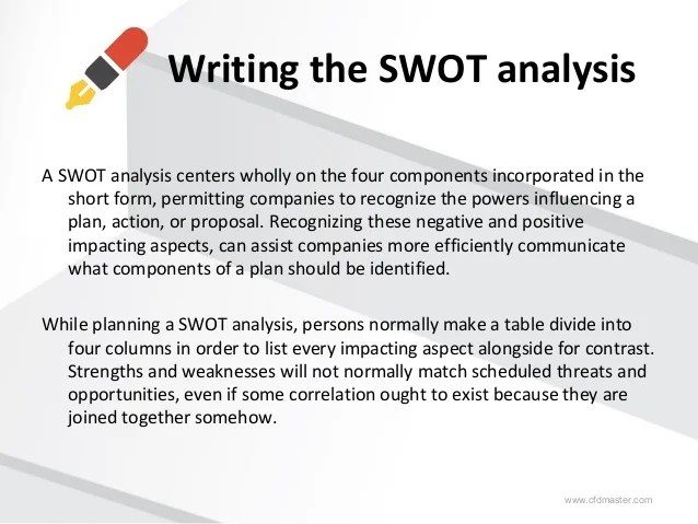 swot analysis sample report - Ozilalmanoof