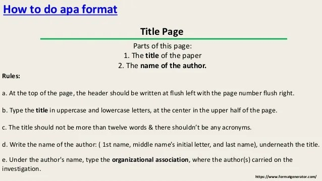 how to write a report in apa