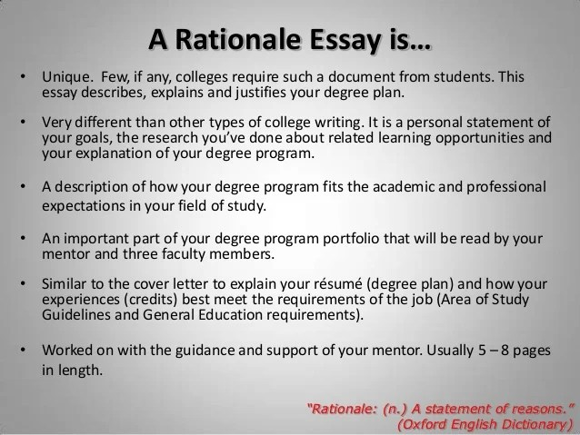 dissertation rationale for study Rationale/proposal for research you must write a 3-4 page paper that provides a rationale for further research into your topic you are now ready to propose to your honors advisor that s/he authorize you to conduct further study and write a thesis on your subject.