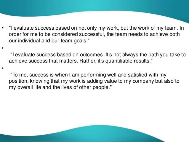 how do you determine or evaluate success - Romeolandinez - how do you determine or evaluate success