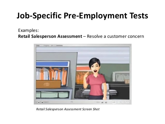pre employment assessments - Selol-ink