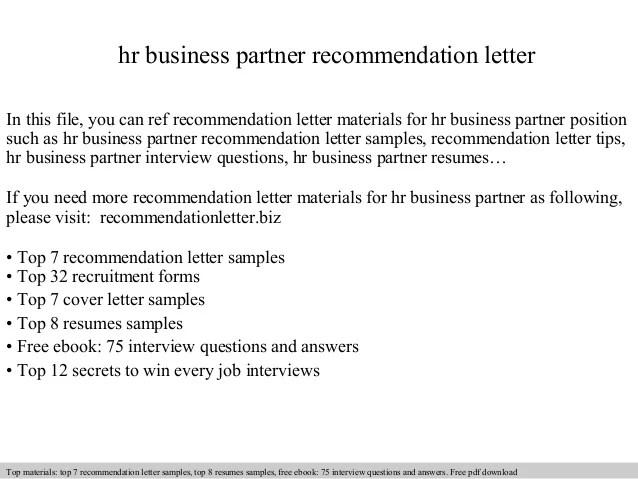 hr business partner cover letter sample