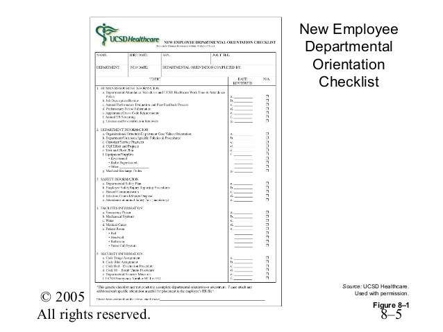 orientation checklist template for new employee - Minimfagency