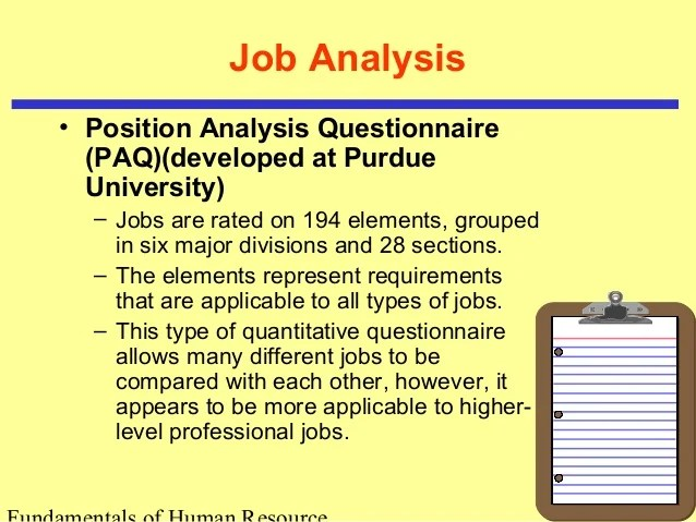 job analysis questionnaire example - Romeolandinez - job analysis
