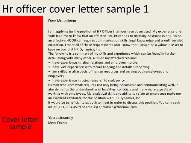 Writing A Cover Letter With No Experience Youth Central Hr Officer Cover Letter
