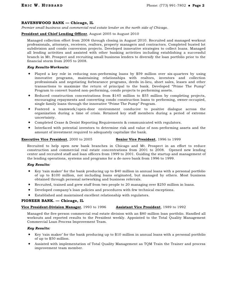 business loan resumes - Acurlunamedia - assistant vice president resume