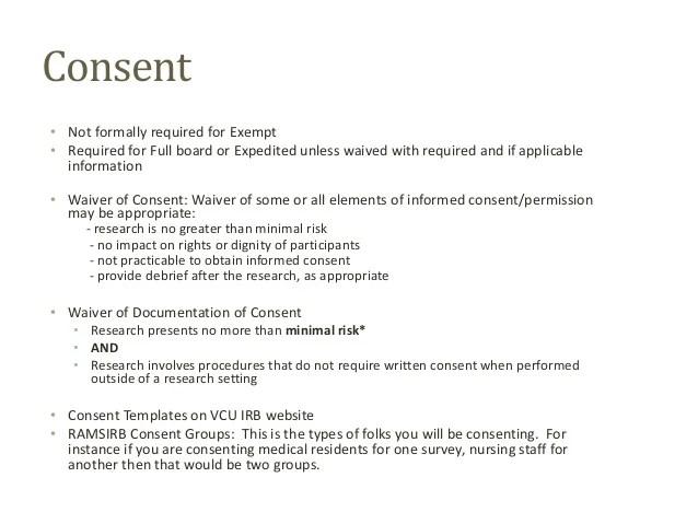 Irb Informed Consent Template - Costumepartyrun