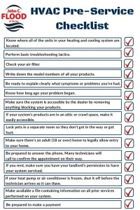 Hvac Pre-Service Checklist