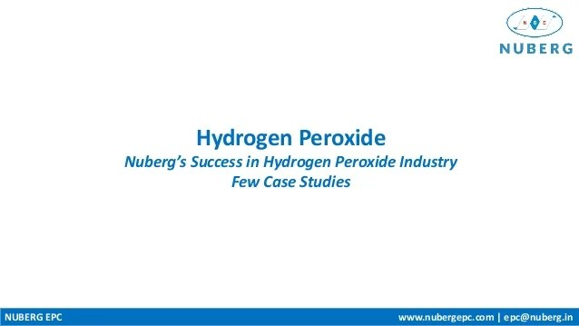 Computer Aided Chemical Engineering Sciencedirect Hydrogen Peroxide Plants