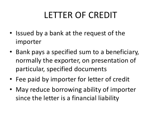 Model Of Irrevocable Credit Letter At Sight Export Forum Export Documentsletter Of Creditbill Of Exchange
