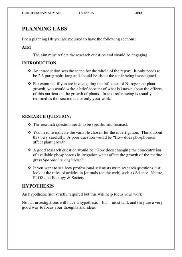 proper lab report format - Mendicharlasmotivacionales
