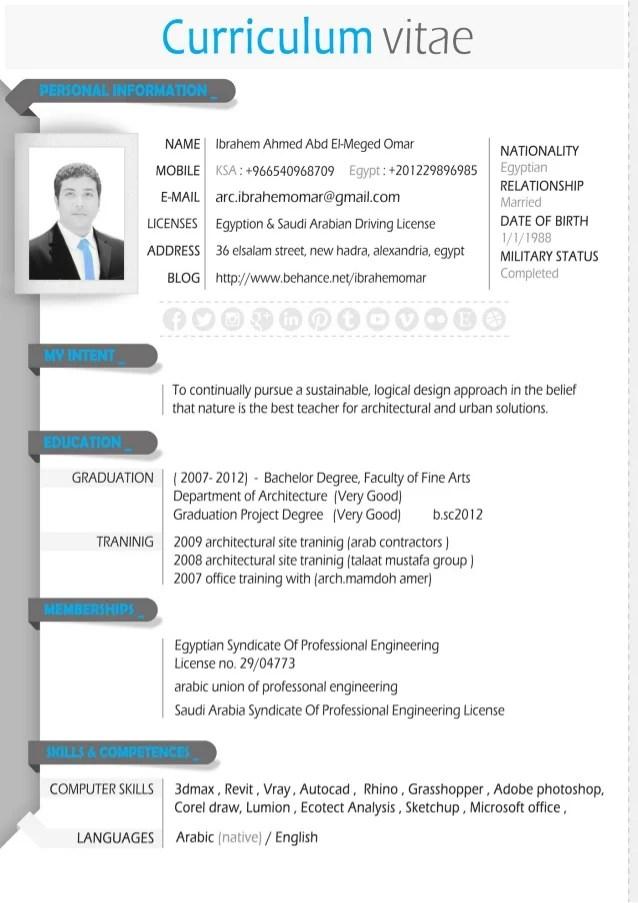 architecture cv portfolio examples