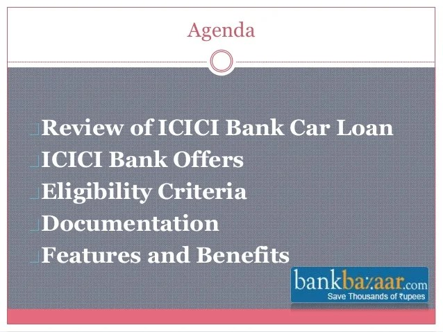 ICICI Bank Car Loan Offers