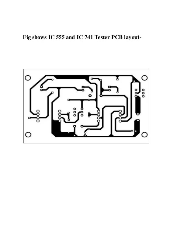 555 astable circuit and layout diagram