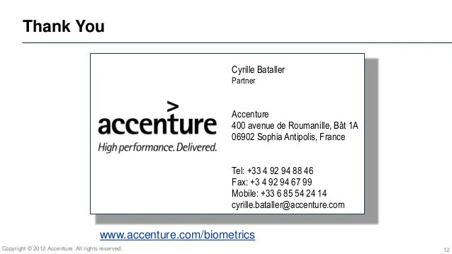 accenture business card template