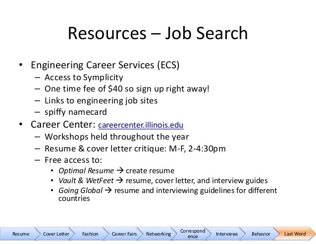 ecs resume review