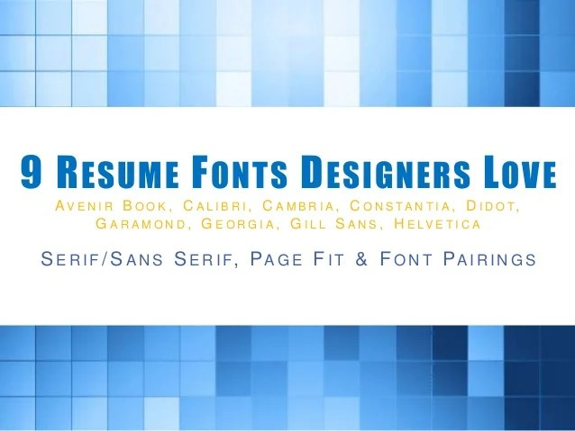 best fonts for a resumes - Minimfagency - best fonts for a resume