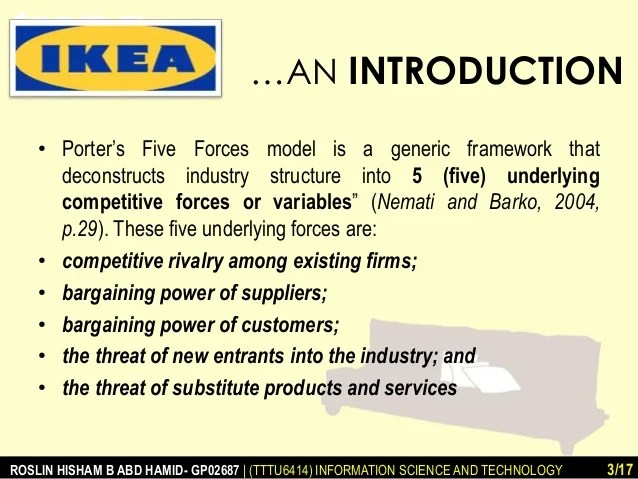 Ikea Porter39s Five Forces And Value Chain Analysis