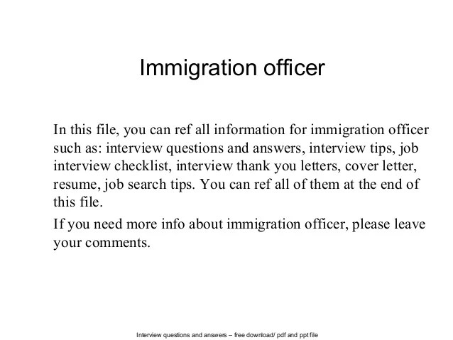cover letter for immigration officer - Towerssconstruction