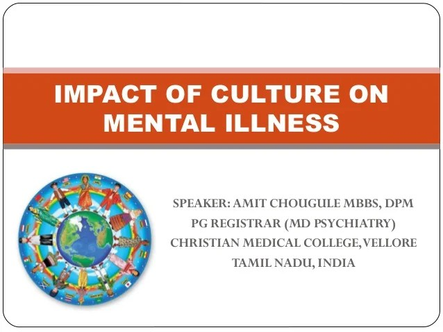 Impact of culture on mental illness/ Transcultural Psychiatry