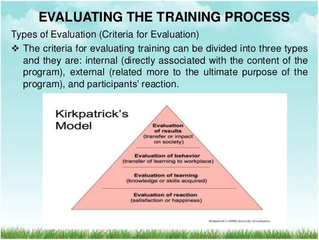 Program Evaluation Wikipedia Implementing And Evaluating The Training Process Hrm