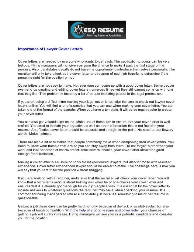 experienced attorney cover letter - Pinarkubkireklamowe