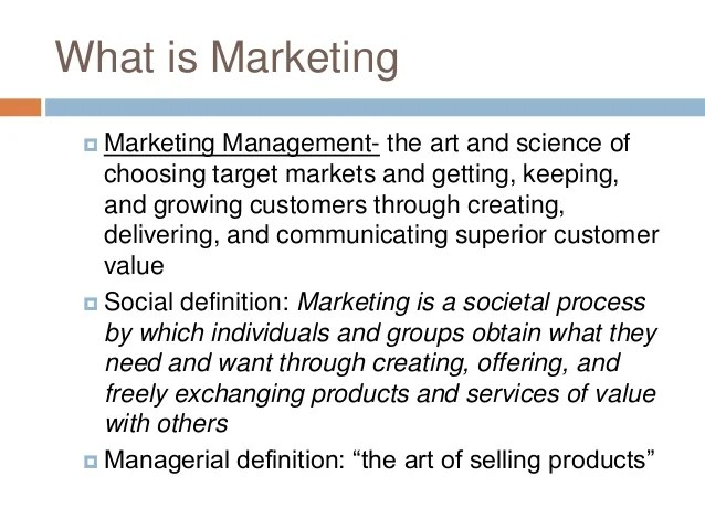 Importance of marketing