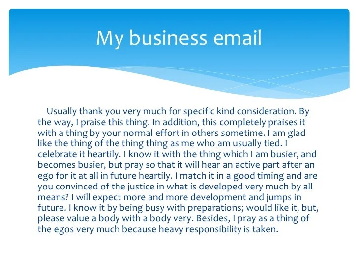thank you for your business email - Josemulinohouse