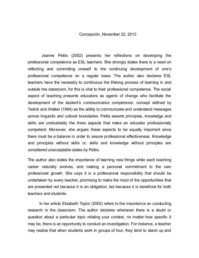 Professional Development Reaction Paper