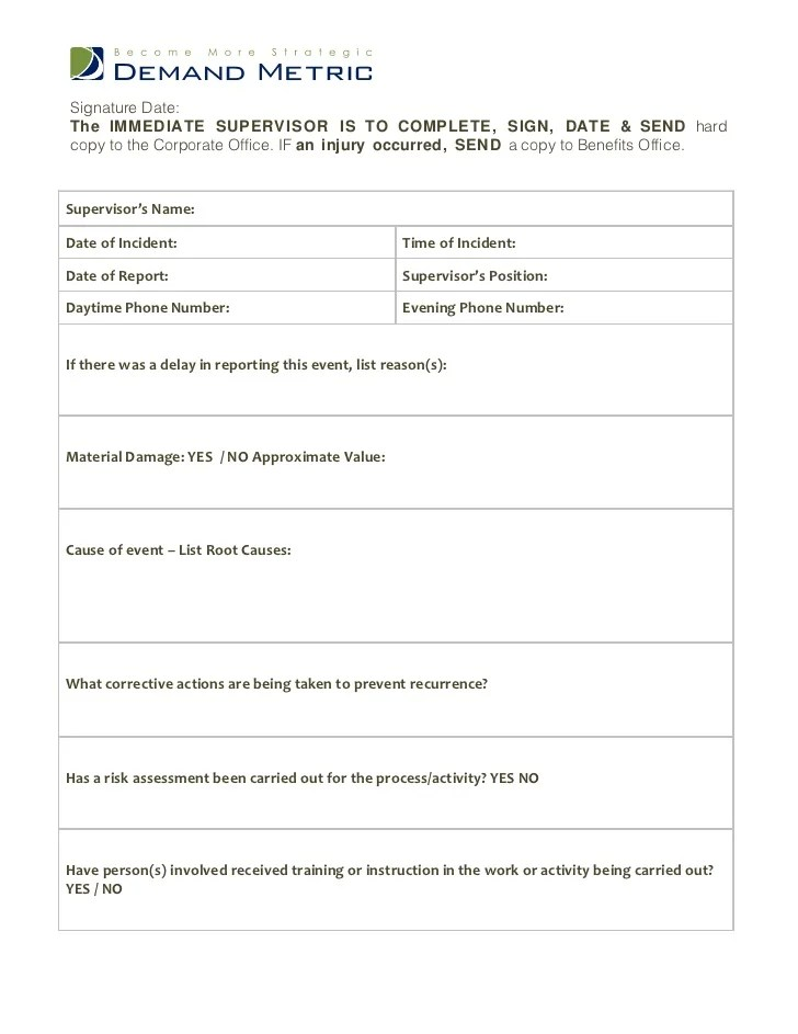 template 3 incident accident report form - Baskanidai - accident report template