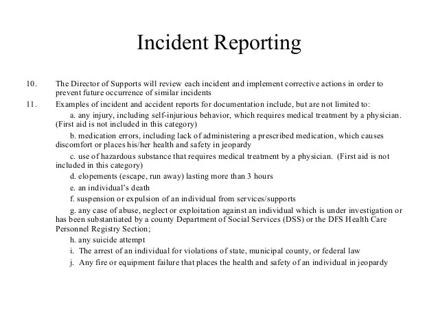 how to write a incident report for work examples - Vatozhub-rural