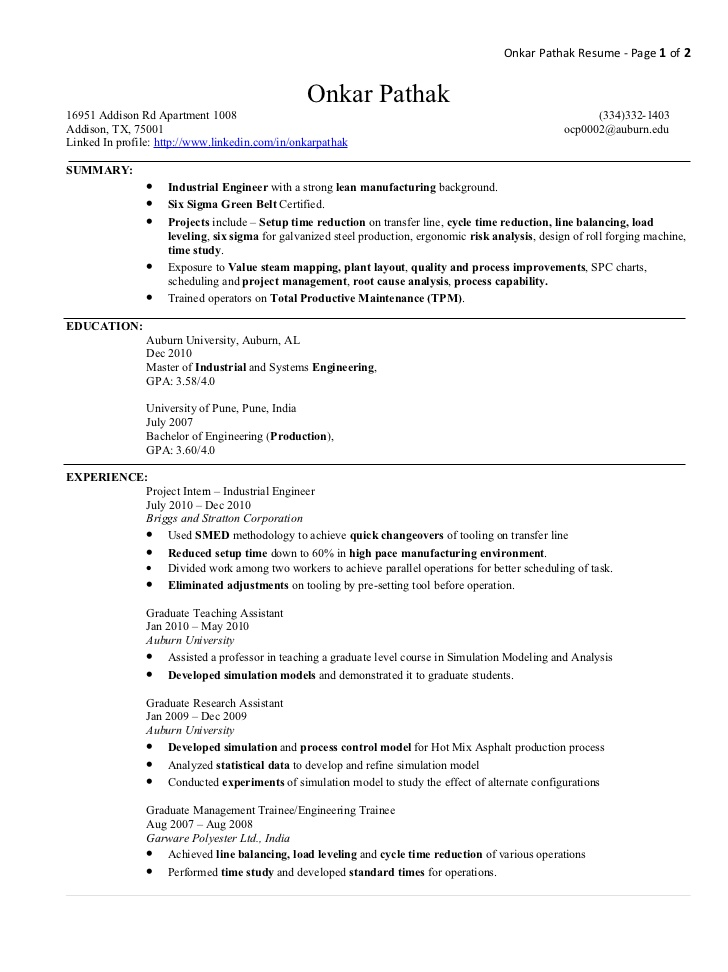 resume writers miami fl industrial engineer resume workbloom inventory manager resume - Sample Resume For Ojt Industrial Engineering Students